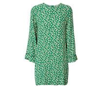 Lässiges Print-Kleid Grün/Weiß