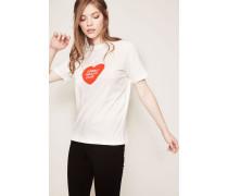 T-Shirt 'Lonely Herats Club' Weiß
