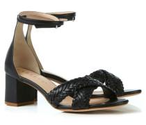 Leder-Sandale 'Donna' Schwarz