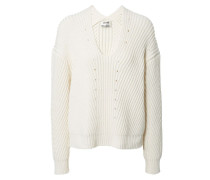 Lässiger Pullover 'Bernice Chunky' Weiß
