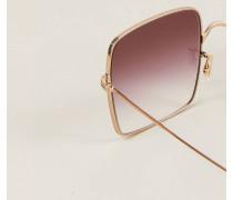 Sonnenbrille 'Rassine' Rotgold/ Rosa