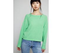 Oversized Cashmere-Pullover Grün
