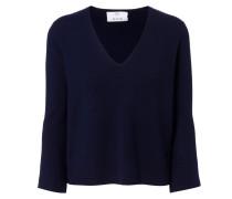 V-Neck-Woll-Pullover Navy