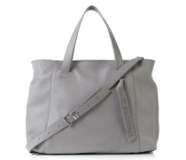 Shopper mit Schulterriemen Grau