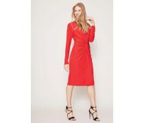 Kleid mit Knoten-Detail Rot