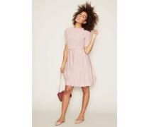 Kombiniertes Strick-Kleid Rosé