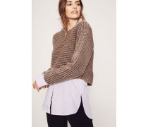 Grobstrick-Cashmerepullover 'Sylvia' Taupe