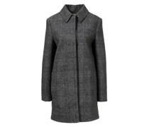 Woll-Mantel mit Glencheck Muster