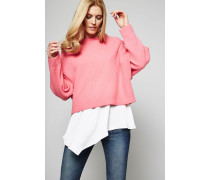 Oversized Cashmere-Pullover Pink