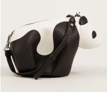 Mini-Handtasche 'Panda' Schwarz/Weiß