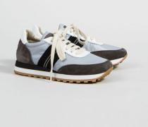 Sneaker mit Perlenverzierung Weiß/Grau