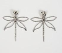 Libellen-Ohrhänger Silber
