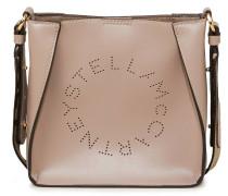 Mini Bag 'Hobo Eco Soft Small' mit perforiertem Logo Beige