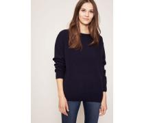 Woll-Pullover 'Tibia' Marineblau