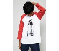 Shirt 'Noise Capsule' Weiß/Rot