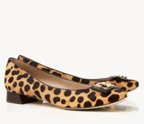 Veloursleder-Ballerina 'Gigi Pump' Leopardenprint