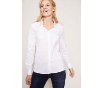 Bluse mit Perlenverzierung Weiß