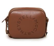 Umhängetasche 'Mini Camera Bag Eco' mit perforiertem Logo Cognac