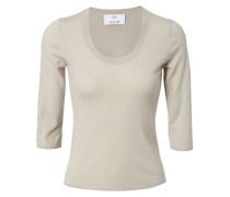 Woll-Pullover mit 3/4-Arm Beige Mélange