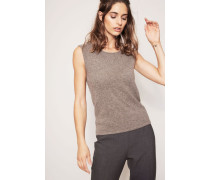 Cashmere-Top 'Melbourne' Taupe