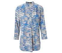 Bluse mit Print Blau/Grau
