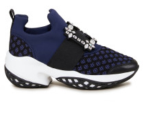 Sneaker 'Vive Run Strass Buckle' Dunkelblau