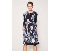Wollkleid 'Emma' mit floralem Print Blau/Multi