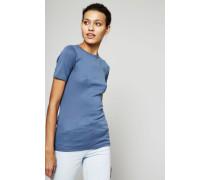 Klassisches T-Shirt Blau
