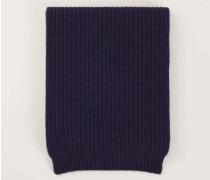 Grobstrick Cashmere-Schal Marineblau