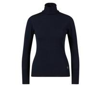 Woll-Rollkragenpullover Marineblau