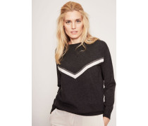 Cashmere-Pullover mit frontalem Muster Anthrazit