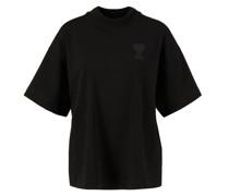 Baumwoll-T-Shirt mit ikonischem Logo-Patch