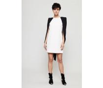 Kleid mit Cape-Detail Ivory/Black