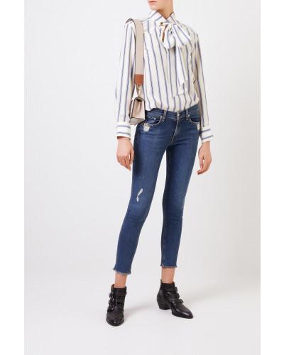 Skinny-Jeans im Used-Look Blau