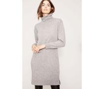 Cashmere-Kleid mit Rollkragen Grau