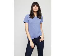 Gestreiftes T-Shirt Blue Fonce