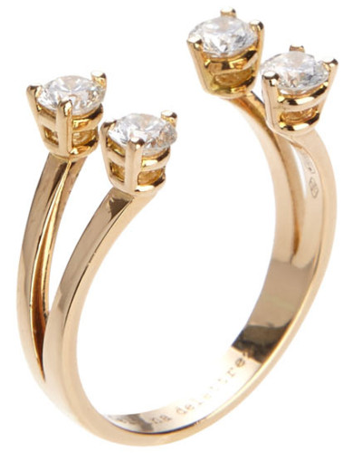 Ring 'Dots' mit Diamanten und Gold