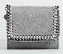 Kleines Portemonnaie mit Ketten-Detail Light Grey