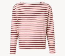 Gestreiftes Longsleeve 'Adrien' Rot/Weiß
