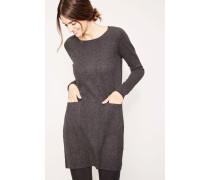 Cashmere-Kleid mit Taschen Anthrazit