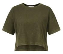 Cropped Oversize T-Shirt Khaki