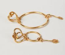 Ohrringe 'Creole Arrow Groß' Gold