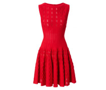 Tailliertes Kleid Rot