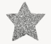 Sternenförmiger Ohrstecker 'Superstellar' 18K Weißgold