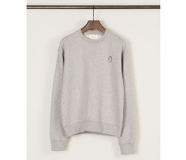 Baumwoll-Sweatshirt 'Tara' Grey Mélange