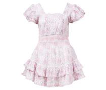 Minikleid 'Stanton' mit floralem Muster /Weiß