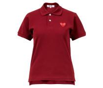 Baumwoll-Poloshirt mit Herz-Logo Bordeaux