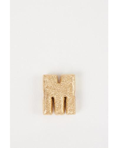 Anhänger 'Sparkly Letter M' 18K Gelbgold
