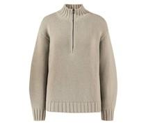 Cashmere-Pullover mit Zipper-Detail 'Joyce'