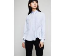 Bluse mit seitlichen Zipper-Details Light Blue